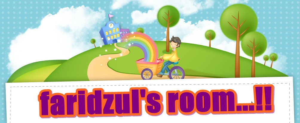 faridzul's room...!!