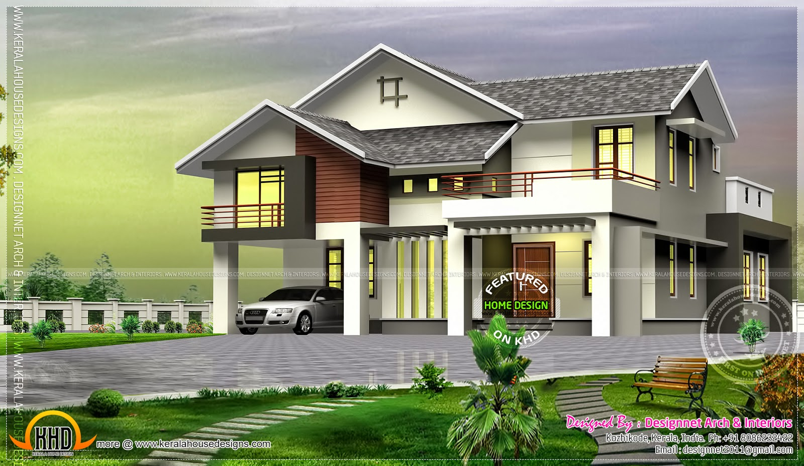 House with mezzanine floor and outside glass roof for House plans with mezzanine floor