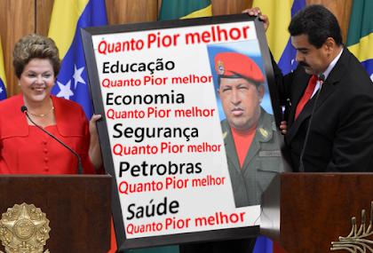 Para Dilma quanto pior o Brasil melhor para o poder deles, do PT