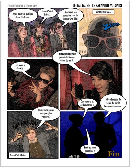 bande dessinee bal jaune ile seguin franck chevalier knight tristan ranx fiac beaux arts magazine 2012 lescop