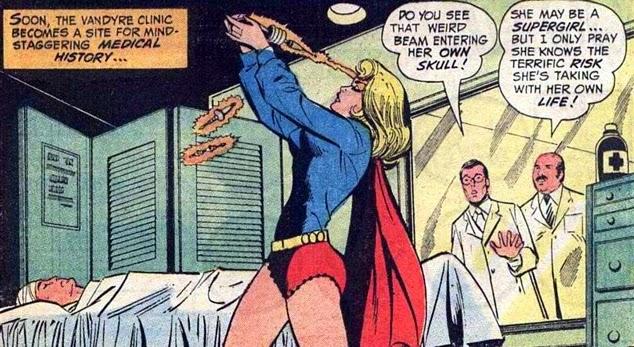 Supergirl #4, brain surgery