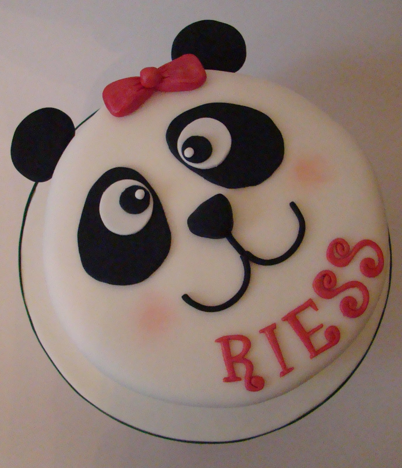 Panda Birthday Cake And Cupcakes Boutique Cake Shop