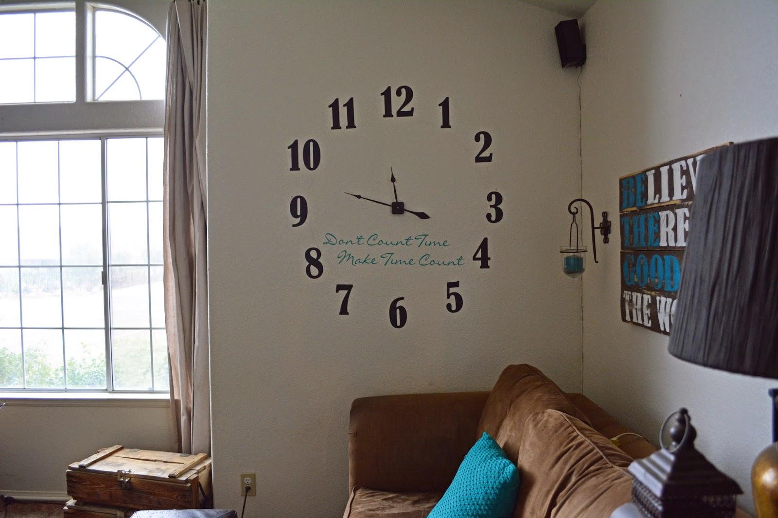 Random Ramblings Xl Vinyl Wall Clock A Blog Hop And A Giveaway