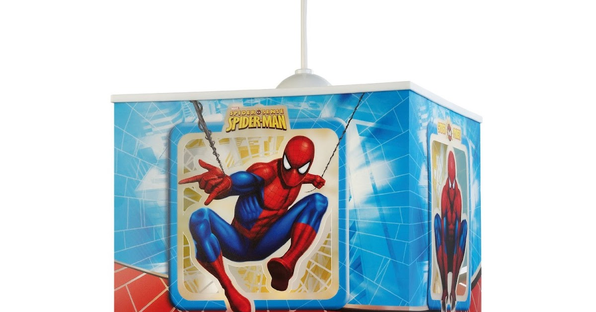 decken und wandleuchten dalber 63602 h ngeleuchte spiderman kinderzimmer lampe leuchte. Black Bedroom Furniture Sets. Home Design Ideas