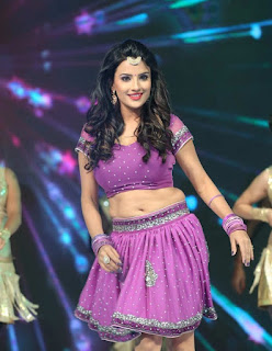Jyoti Sethi in lovely Purple Choli Ghagra Stunning Pics at Hyderabad Talwar League Launch On stage Dance