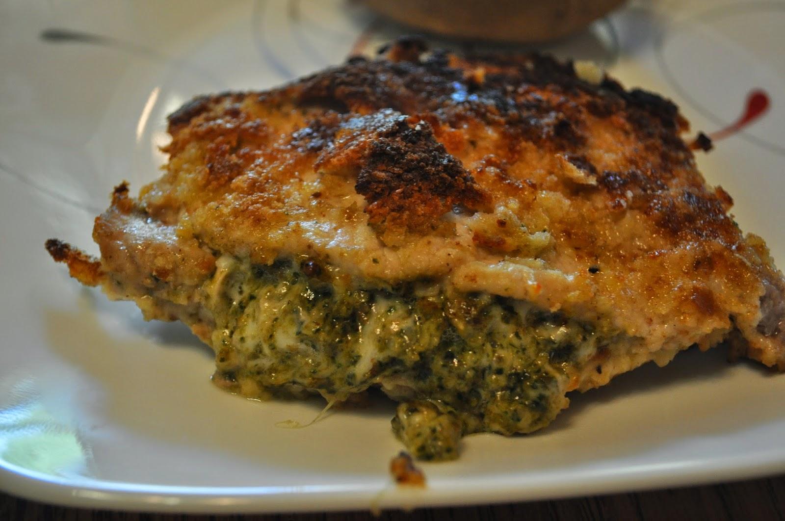 Beth's Favorite Recipes: Pesto Mozzarella Stuffed Pork Chops