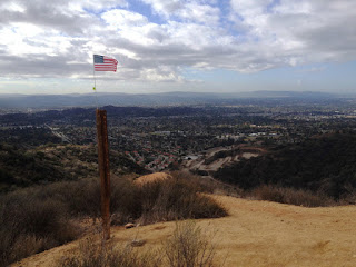 View southwest from the junction of Mystic Canyon Trail and Lower Monroe Road, Glendora