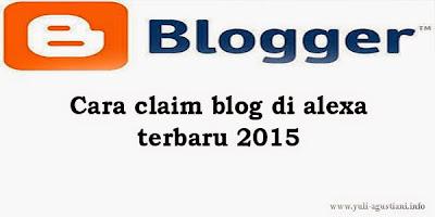 Cara claim blog di alexa terbaru 2015