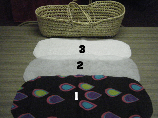 how to knit moses basket liner