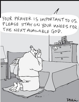 Cornered: Your prayer is important to us ...