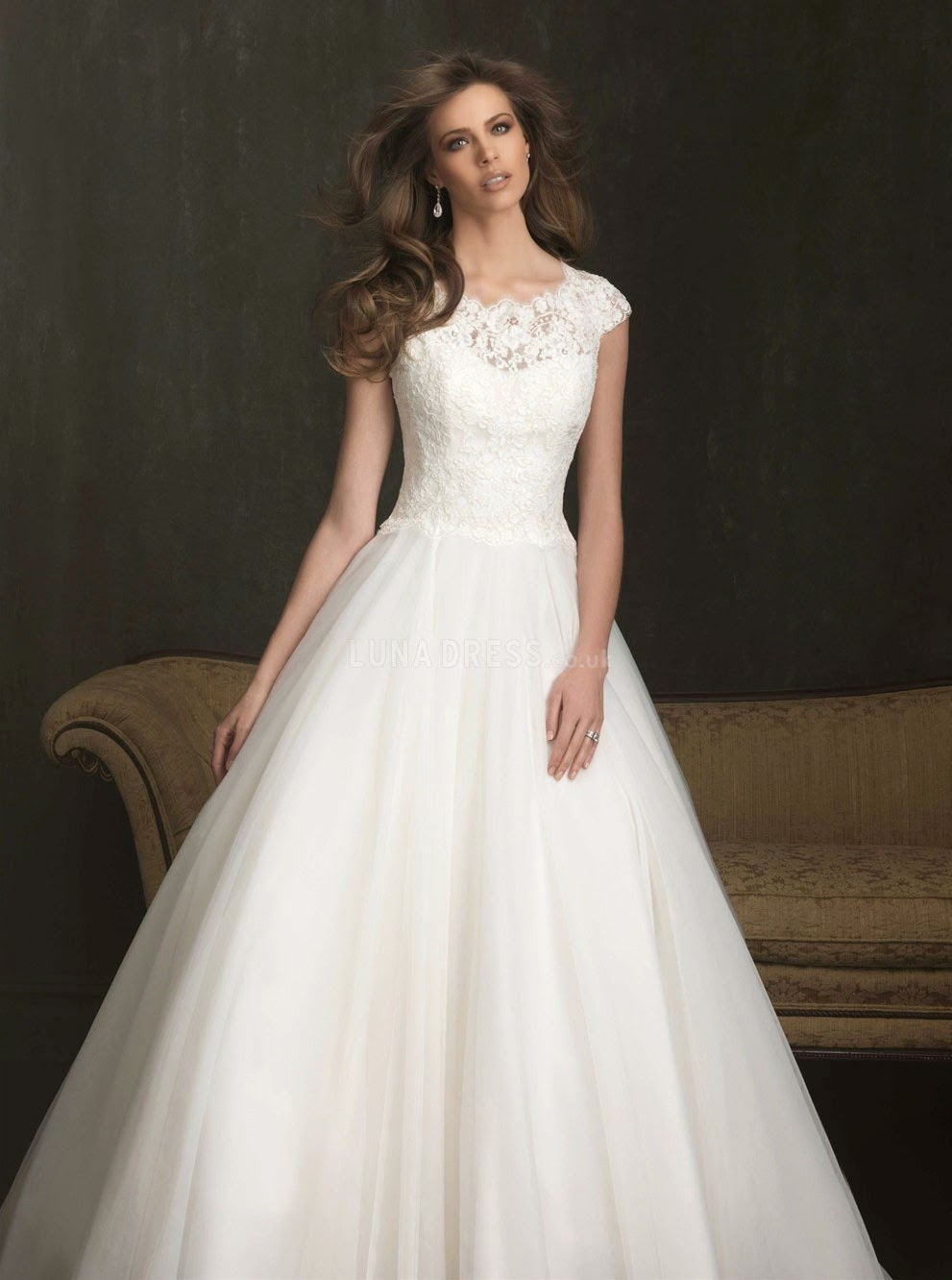 Backless Wedding Dresses With Short Sleeves Photos HD Ideas