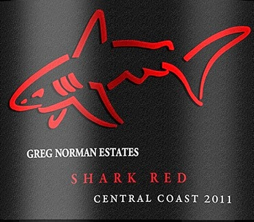 Greg Norman Estates Shark Red wine bottle