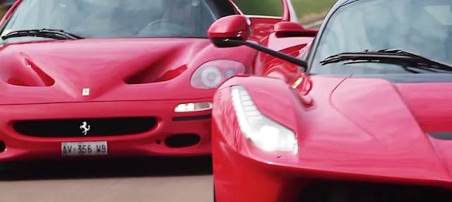 F40からラフェラーリまで!フェラーリの特別モデル4台がサーキットを走る