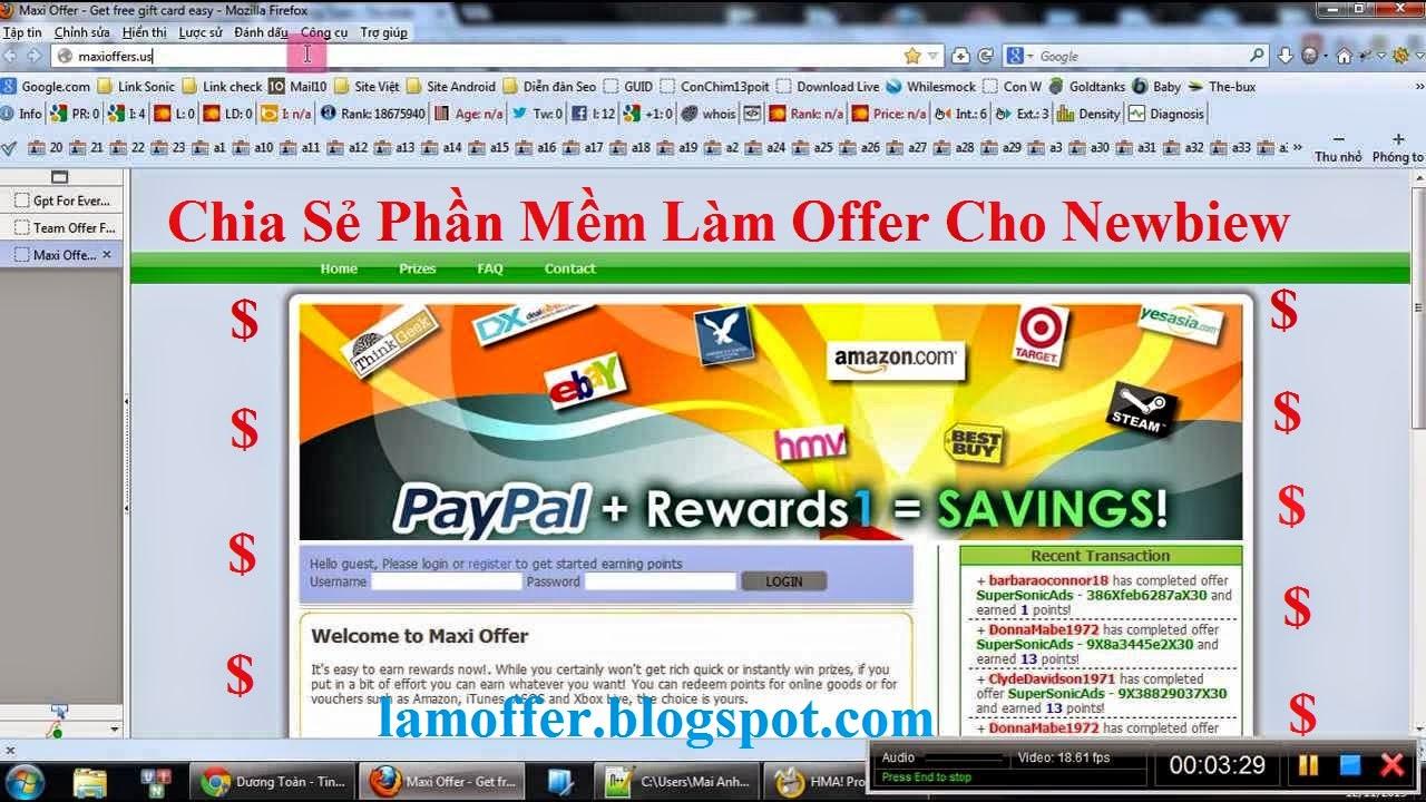 Chia sẻ phần mềm làm Offer cho newbie - Download phần mềm làm Offer