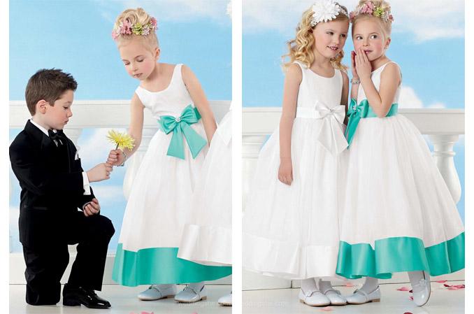 Aqua Dresses Little Bride