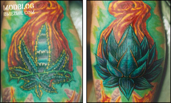 Weed tattoos popular tattoo designs for Best weed tattoo designs