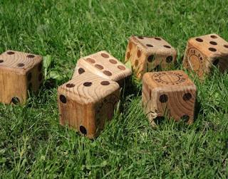 Yahtzee Lawn Dice at Amazon