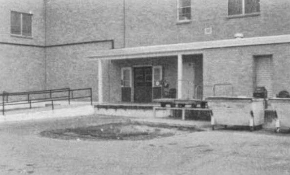 Rear entrance of the hospital of Roswell Army Air Field