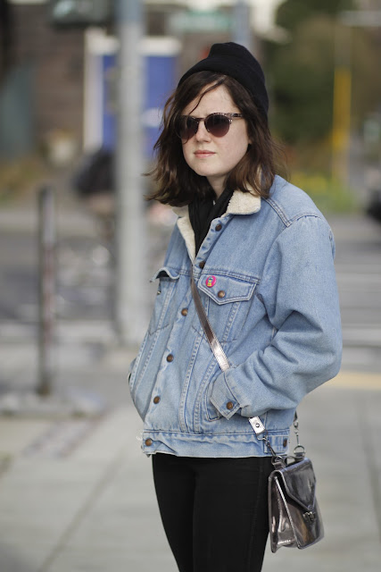 Katherine Humphreys envelope bag seattle street style fashion it's my darlin' jean jacket