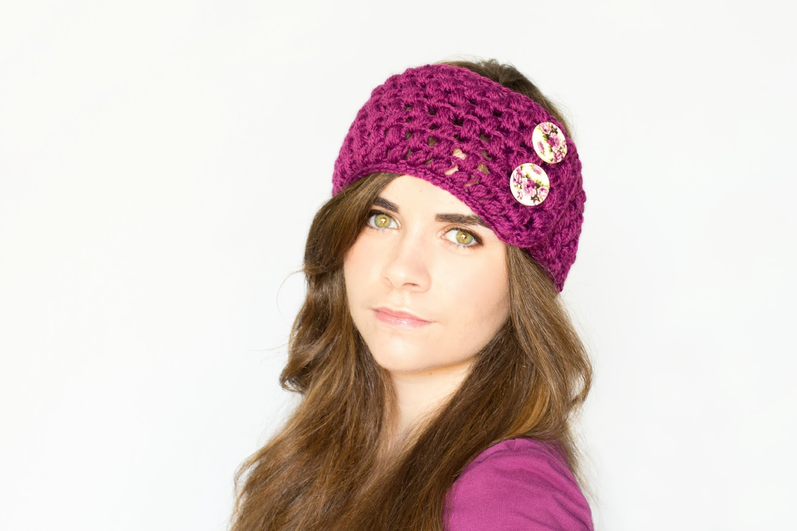 Crochet Ear Warmer : ... Honey Craft, Crochet, Create: Puff Stitch Ear Warmer Crochet Pattern