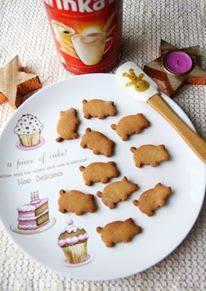 ciasteczka świnki , piernikowe świnki , deser , przepis uczestnika , konkurs kawowe inspiracje , zabawa , inka ,