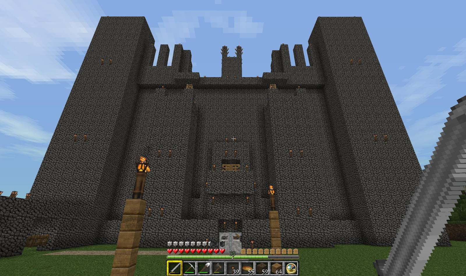 The minecraft castle gigantic mincraft fortress for Fortress house