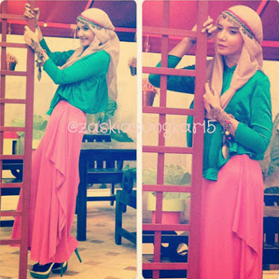 Hijab Style Artis Gaya Hijab Stylish Ala Zaskia Sungkar | elHouz