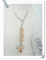 Swarovski Coleman Beaded Dangle Necklace in RAW