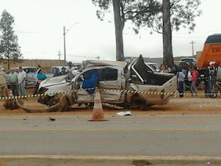 Acidente no trevo da BR 040 em Cristalina deixa quatro mortos