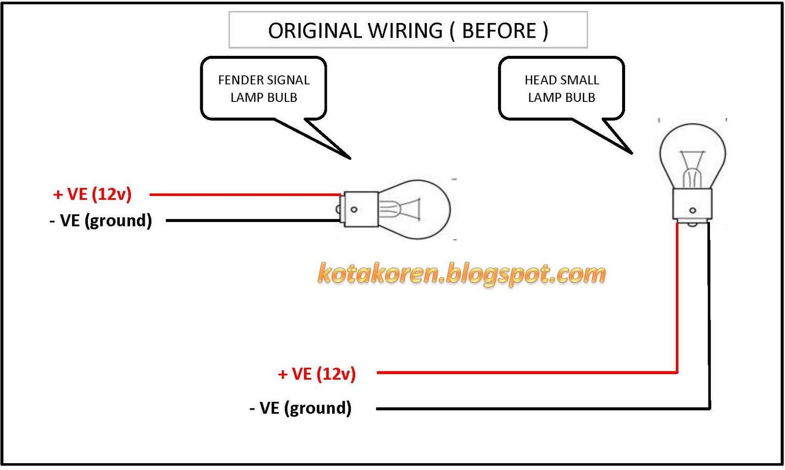 diy side fender lamp wira kotak oren rh kotakoren blogspot com Fog Lamp Wiring Harness wira fog lamp wiring diagram