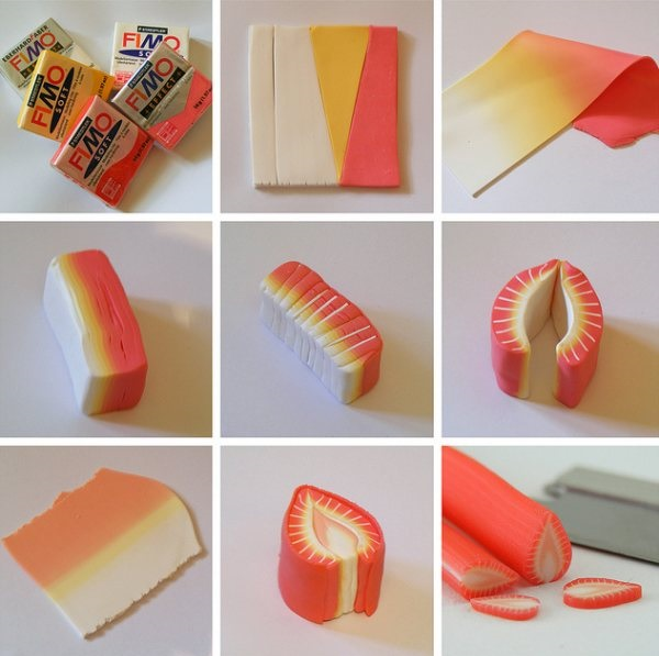 Rainbow Sushi,miniature food sculptures,Shay Aaron