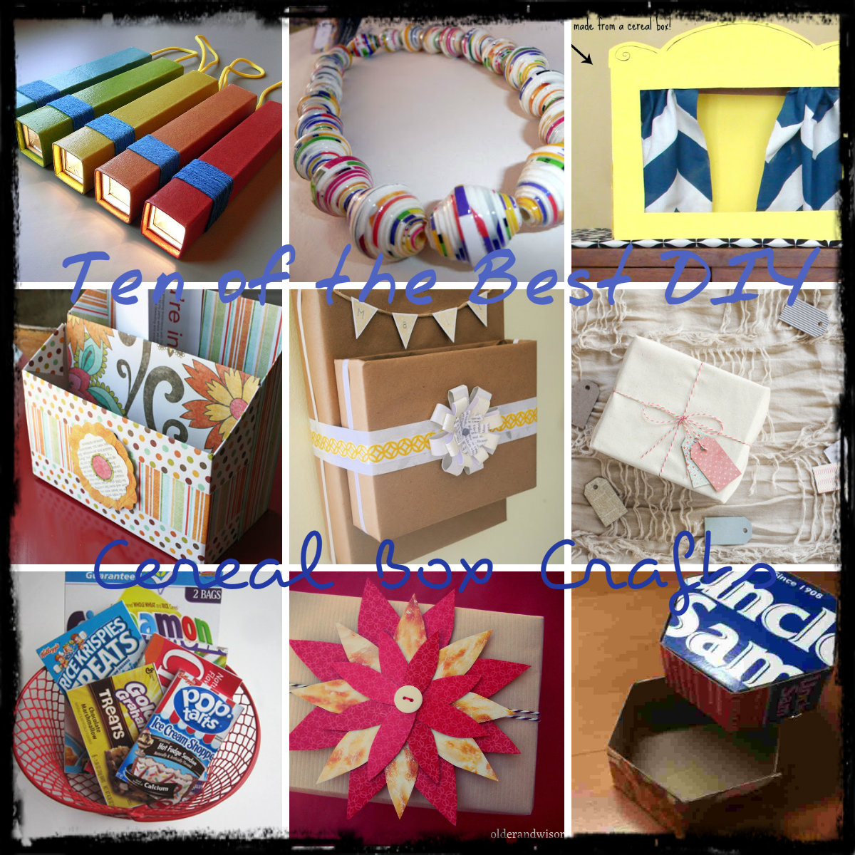 31 Things You Can Make Out Of Cereal Boxes. Cover cereal boxes with pretty fabrics, add a strip of cotton twill tape and labels, and stack them on the wall for a nifty organizer.
