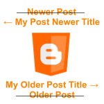 Enhanced blogger page navigation
