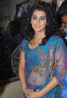 Tapsee, In, Blue, Designer, Saree