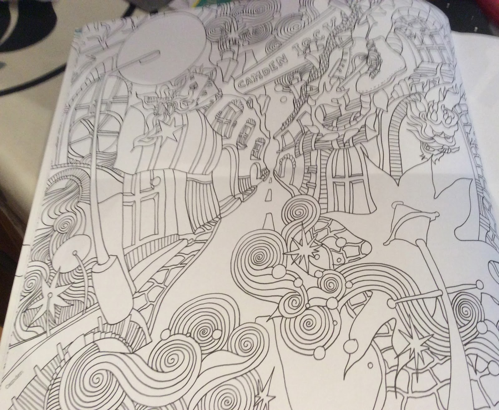 The Magical City Adult Colouring Book By Lizzie Mary Cullen