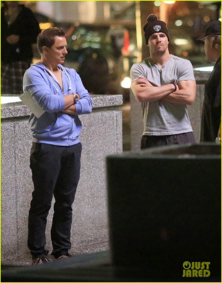 Arrow - Season 3 - Stephen Amell and John Barrowman Set Photo & 50th Episode Filming Completed *Updated HD Photos*
