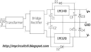 Dual power supply circuit diagram