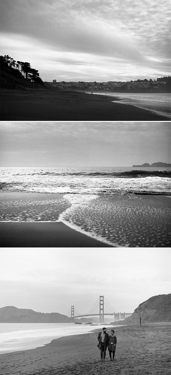 Baker Beach on Mamiya 645af Kodak Tmax 400