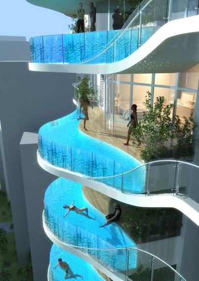 my pinterest interests really cool balcony swimming pool