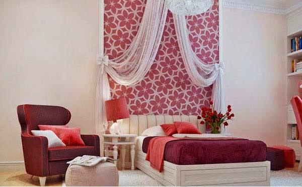 Design kamar tidur perempuan