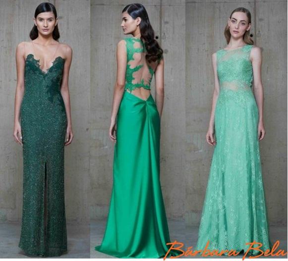 Vestido verde escuro para madrinha de casamento