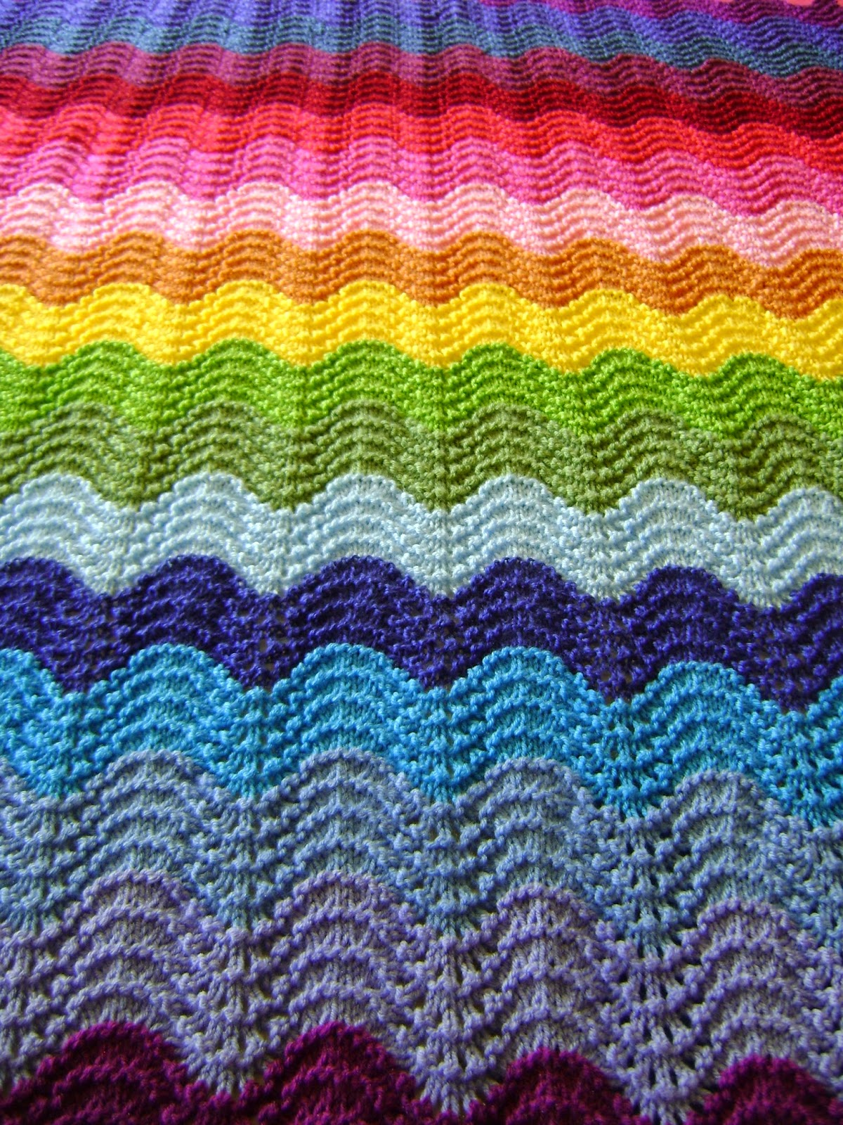 Knitting Stitches Waves : Creative Designs by Sheila Zachariae: Knitting Waves in Technicolor