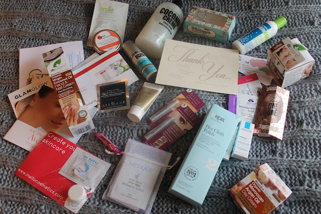 a photograph of all the products from the bristol bloggers meet