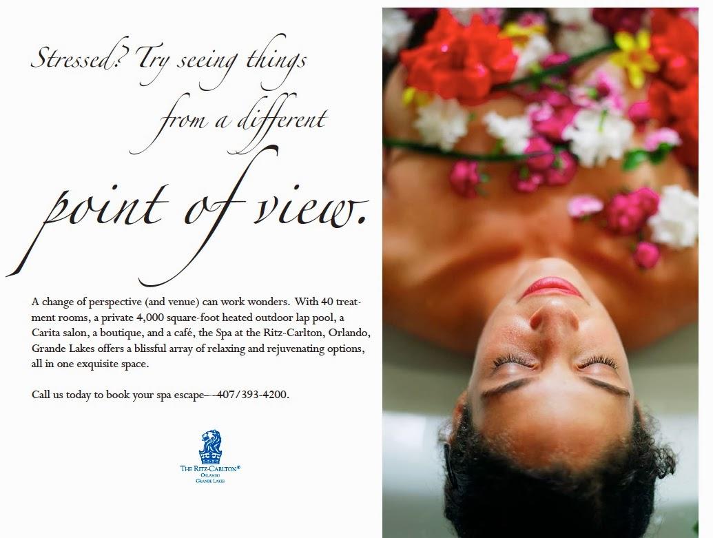 Ritz carlton spa ads series of 3 for Spa ad asiago