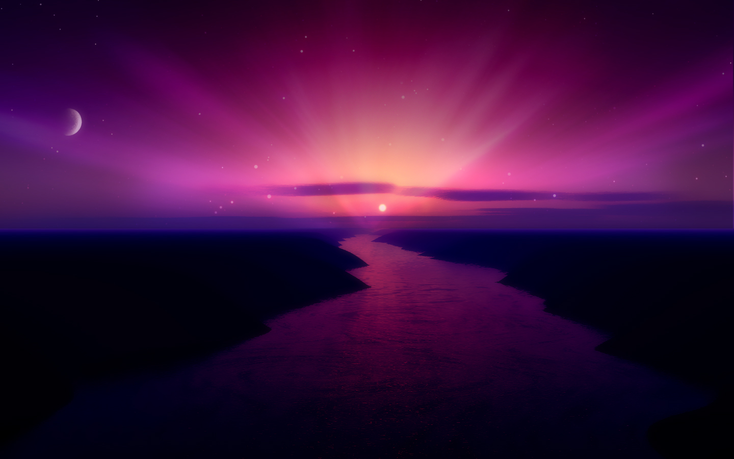purple aurora borealis wallpapers x - photo #11