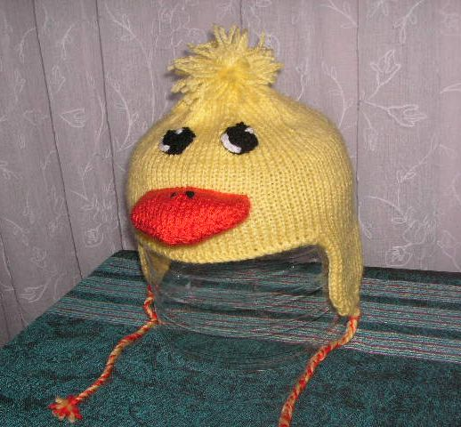 Knitting Pattern For Duck Hat : Knitting Galore: Baby Duckling Earflap Hat