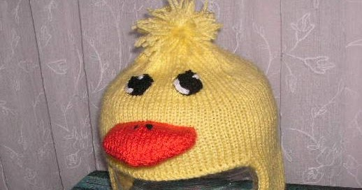 Baby Duck Hat Knitting Pattern : Knitting Galore: Baby Duckling Earflap Hat