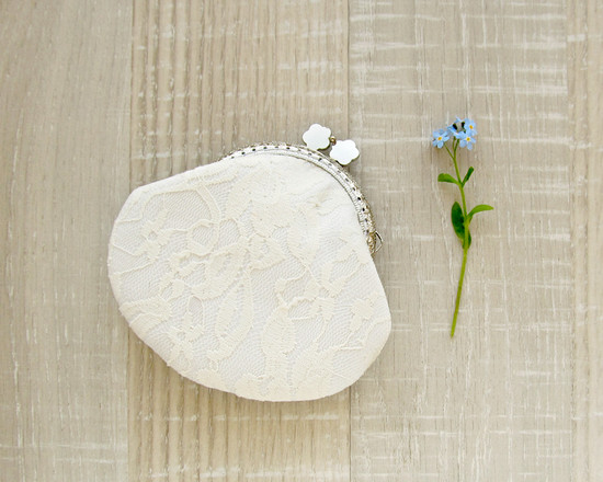 purse ivory lace, кружевной кошелек