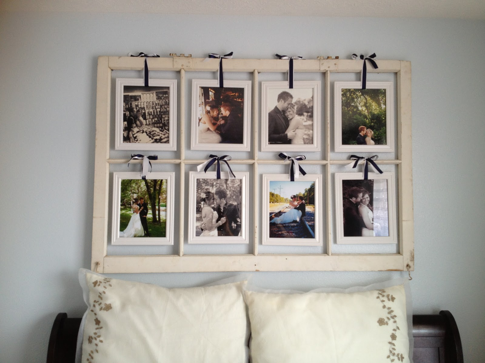 Window Frame Picture Display | Nesting on a Budget