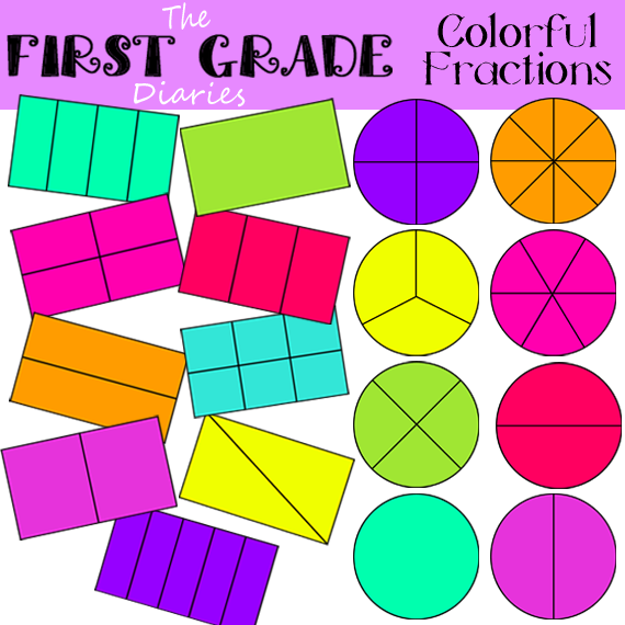 some new fraction clip art available for $ 3 00 there is a colored ...